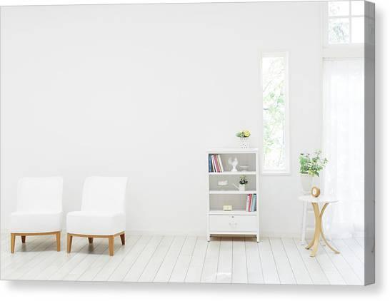 White Living Room Canvas Print