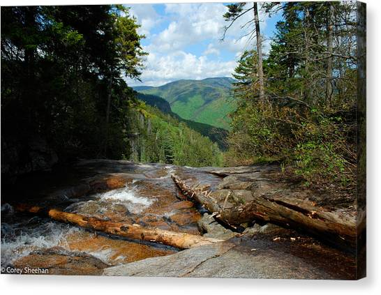 Waterfalls Canvas Print - White Mountain Beauty  by Corey Sheehan