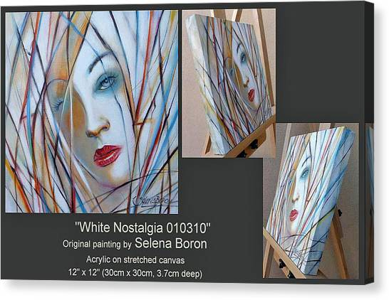 White Nostalgia 010310 Comp Canvas Print