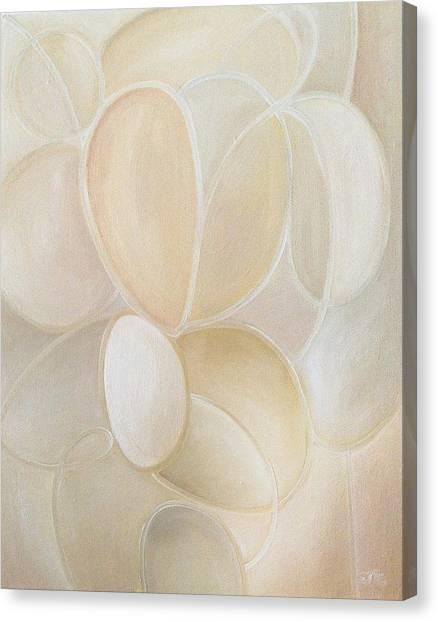 White On Canvas Print