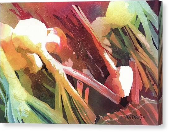 Vegetable Garden Canvas Print - White Onions by Kris Parins