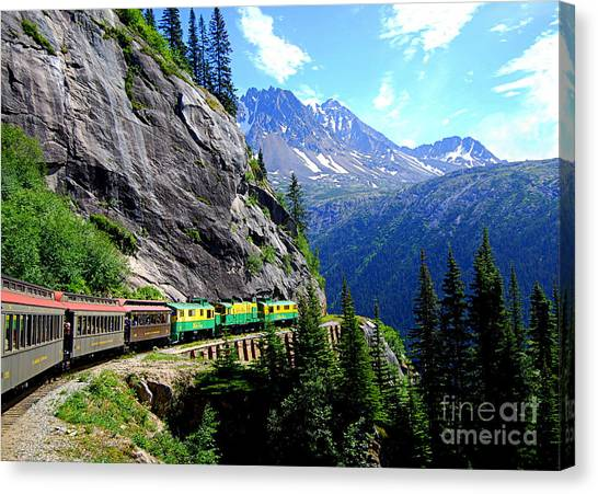 White Pass And Yukon Route Railway In Canada Canvas Print