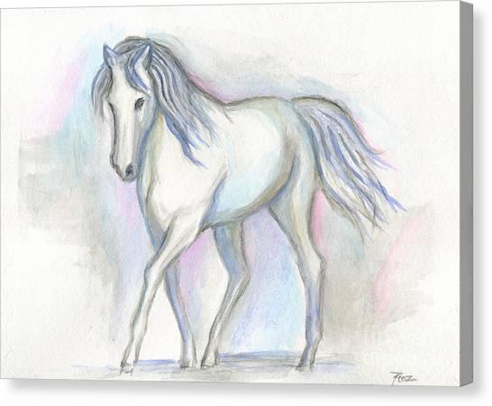 White Pony Canvas Print