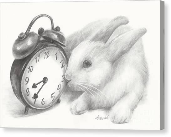 White Rabbit Still Life Canvas Print