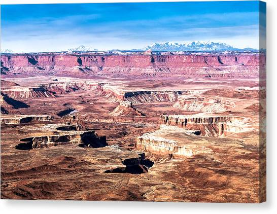 White Rim Trail Canvas Print