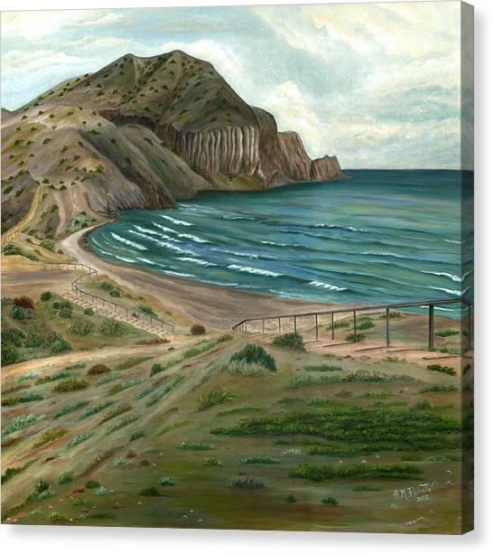 White Rock's Beach Canvas Print