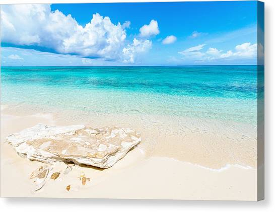 White Sand Canvas Print - White Sand by Chad Dutson