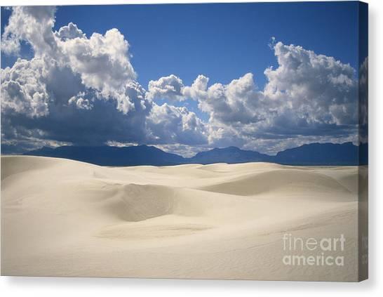 Sandy Desert Canvas Print - White Sands National Monument by Mark Newman