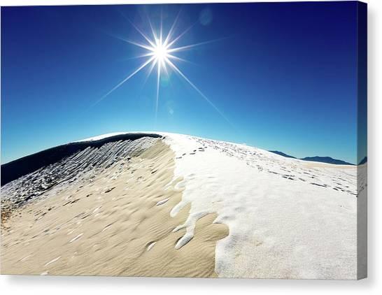 Sandy Desert Canvas Print - White Sands by Wladimir Bulgar