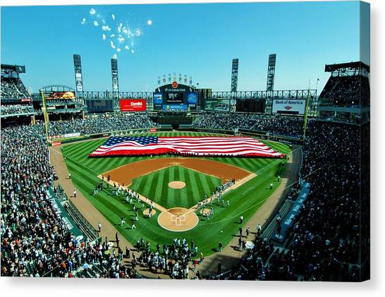 Chicago White Sox Canvas Print - White Sox Opening Day by Benjamin Yeager