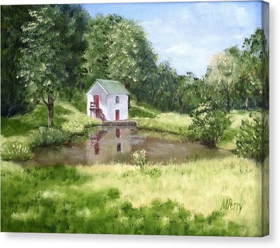 White Springhouse Canvas Print