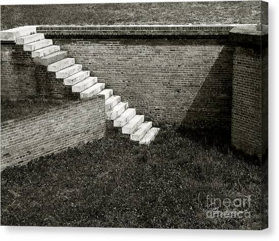White Steps At Fort Barrancas Canvas Print