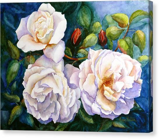 White Teas Rose Tree Canvas Print