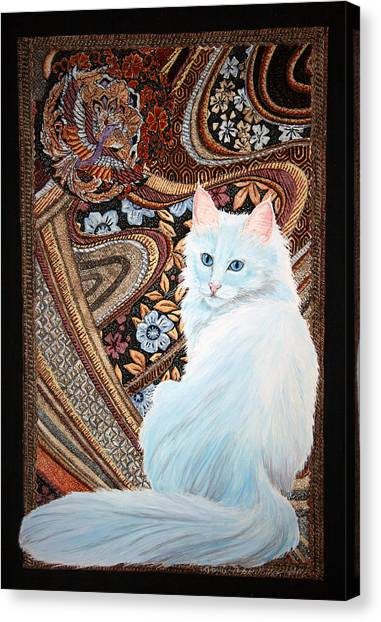 White Turkish Angora Canvas Print