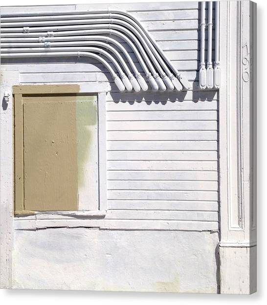 White Canvas Print - White Wall by Julie Gebhardt