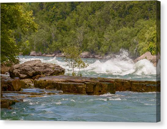 Canvas Print featuring the photograph White Water by Garvin Hunter