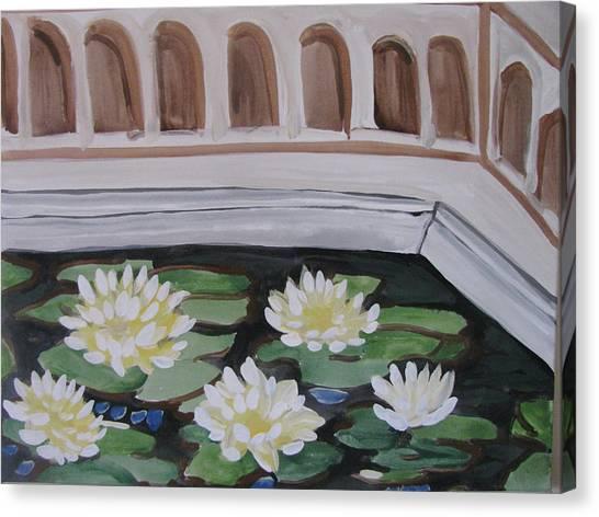White Water Lilies Canvas Print by Vikram Singh