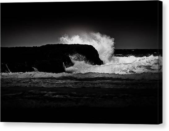 White Wave Canvas Print