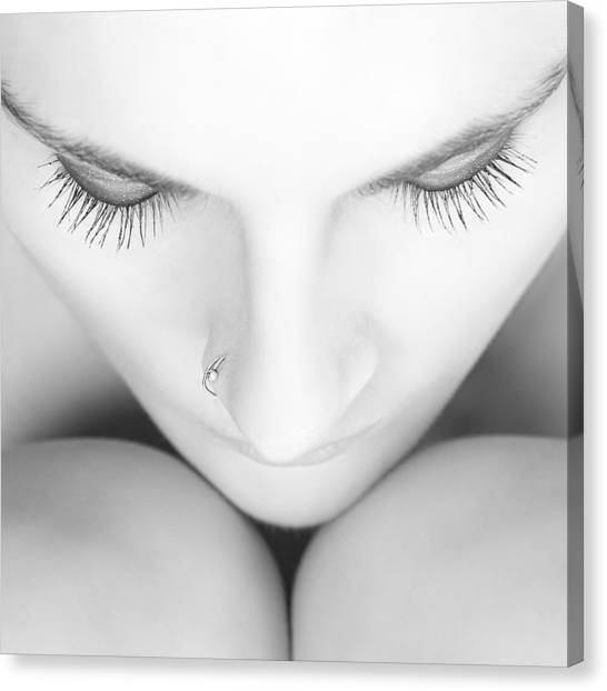 Nose Canvas Print - White Wave Na?8 by Alain Gillet