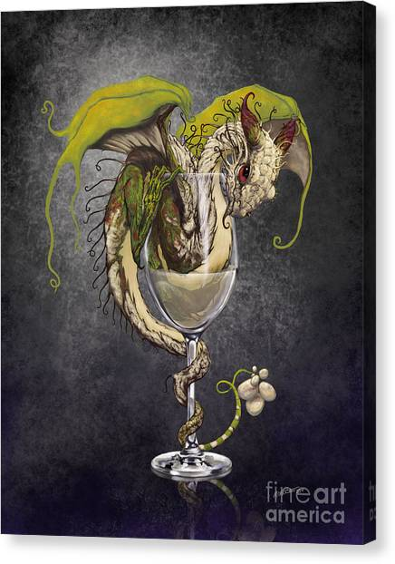 Wine Canvas Print - White Wine Dragon by Stanley Morrison