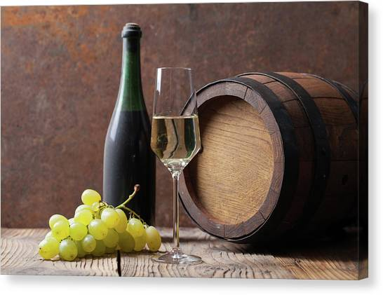 White Wine Canvas Print