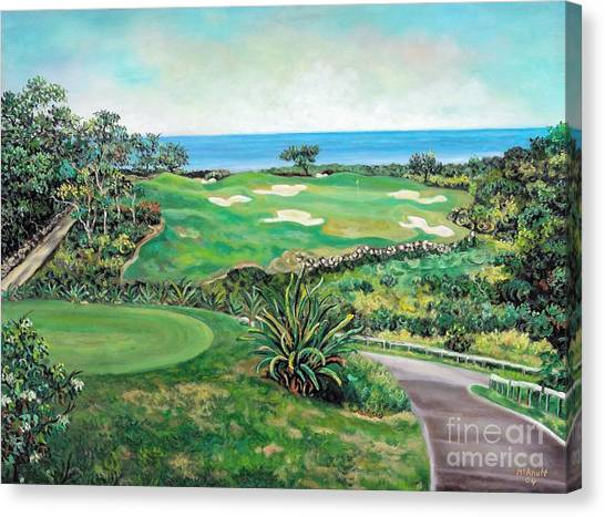 White Witch Golf Course #1 Hole #17 Canvas Print