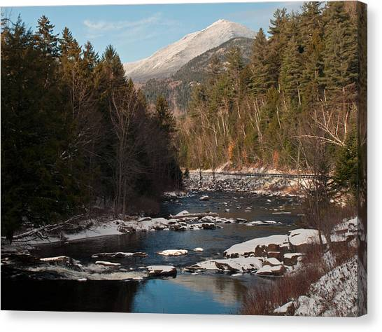 Whiteface Mountain At Monument Falls Canvas Print