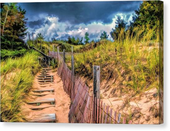Whitefish Dunes State Park Stairs Canvas Print