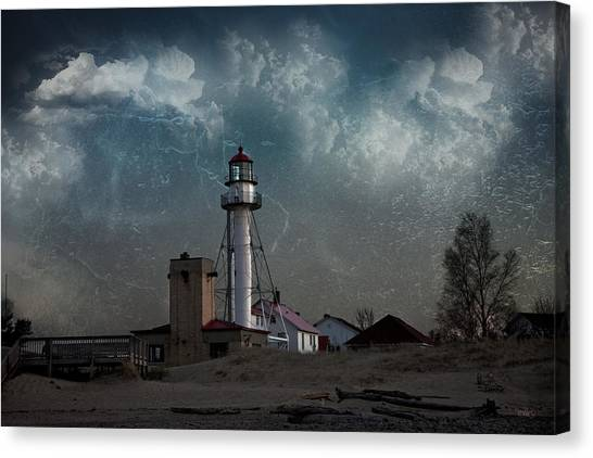 Whitefish Point Lighthouse Lake Superior Canvas Print