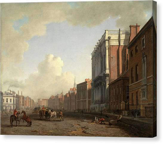 Marlow Canvas Print - Whitehall, Looking Northeast London Signed by Litz Collection