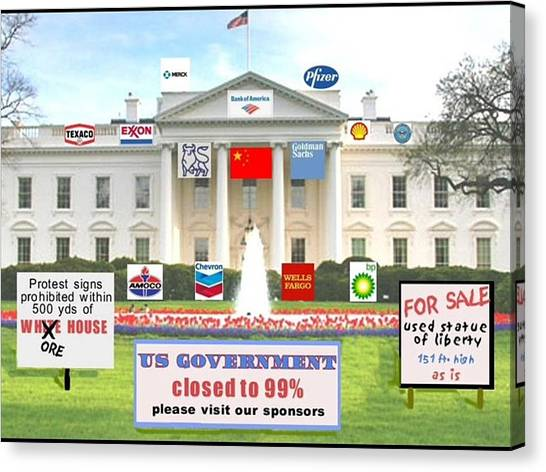 Whitehouse Sponsors  Canvas Print by Robert Stagemyer