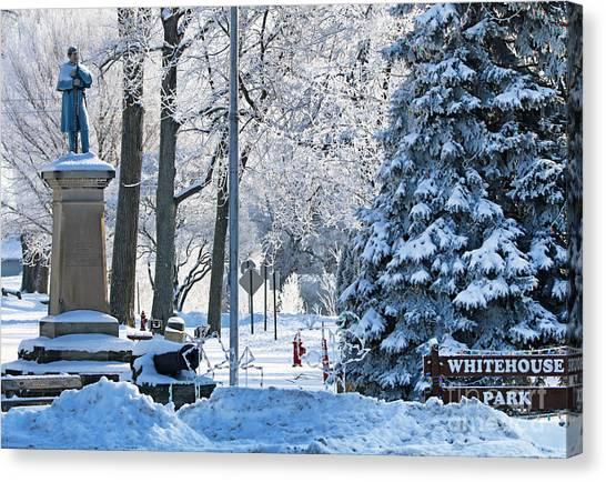 Whitehouse Canvas Print - Whitehouse Village Park  7360 by Jack Schultz