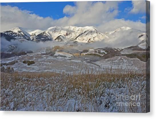 Whiterock Winter Mist Canvas Print