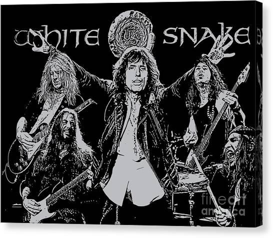 Whitesnake Canvas Print - Whitesnake No.01 by Geek N Rock