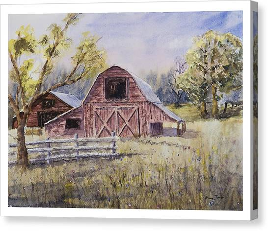 Whiteville Barn Canvas Print by Barry Jones