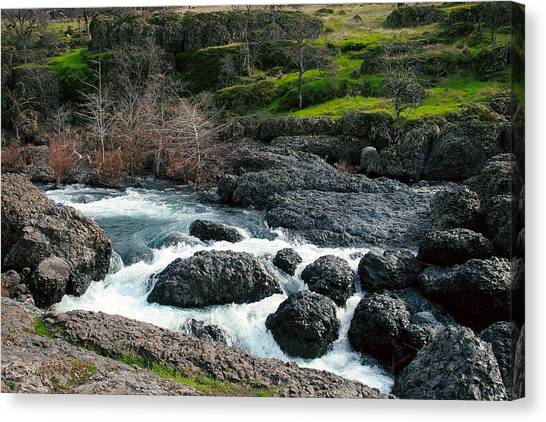 Whitewater At Bear Hole Canvas Print