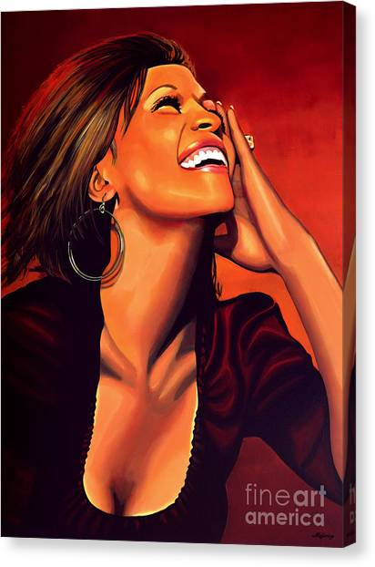 Rhythm And Blues Canvas Print - Whitney Houston by Paul Meijering