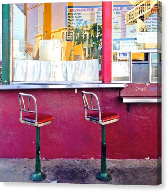 Restaurants Canvas Print - Whiz Burger by Julie Gebhardt