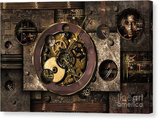 Alien Eyes Canvas Print - Who Controls You? by Franziskus Pfleghart