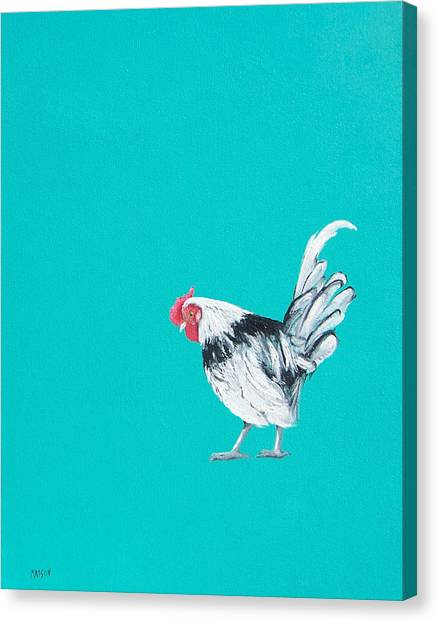 Roosters Canvas Print - Who Me by Jan Matson