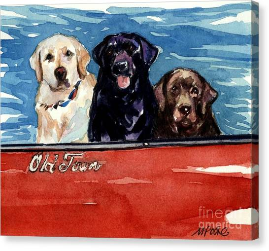 Labrador Retriever Canvas Print - Whole Crew by Molly Poole