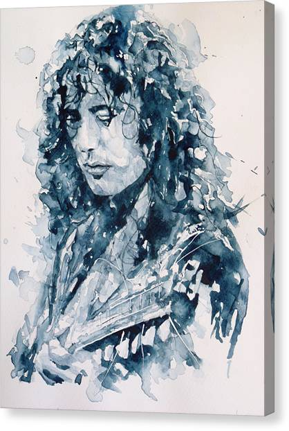 Led Zeppelin Canvas Print - Whole Lotta Love Jimmy Page by Paul Lovering