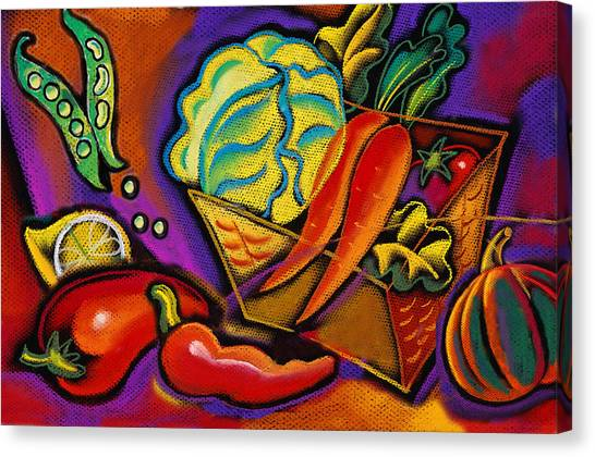 Cabbage Canvas Print - Very Healthy For You by Leon Zernitsky