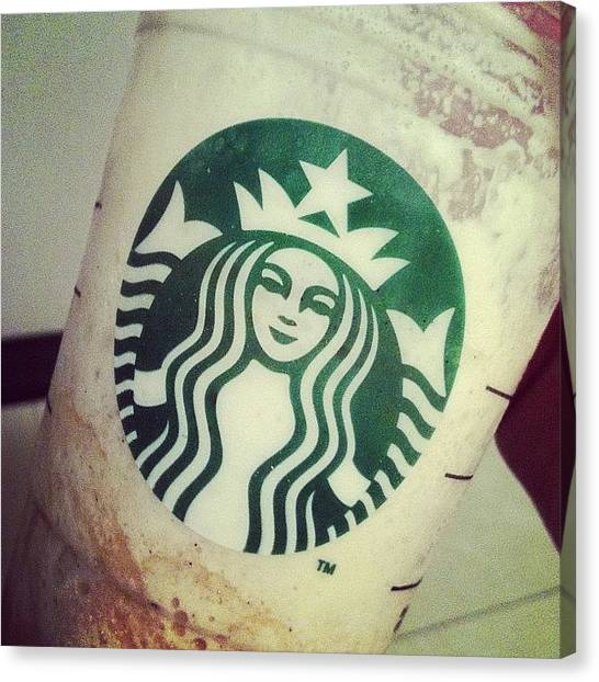 Dolphins Canvas Print - Why Are You So Delicious? #starbucks by Dan Reichert