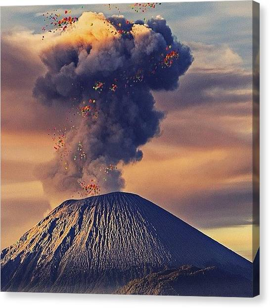 Vulcans Canvas Print - Why Bother With Reality When There's by Henning Lange