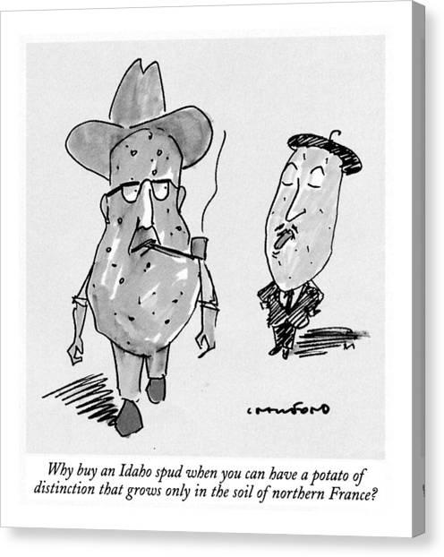 Have Canvas Print - Why Buy An Idaho Spud When You Can Have A Potato by Michael Crawford