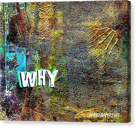 Why Canvas Print by Currie Silver
