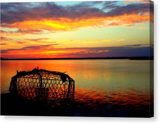 Crabbing Canvas Print - Why Men Fish by Karen Wiles