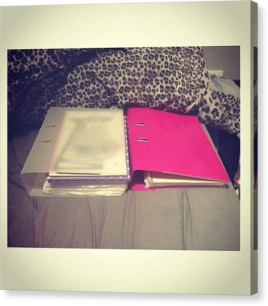 Folders Canvas Print - Why So Much Work College, 2nd Years by Lauren Batty