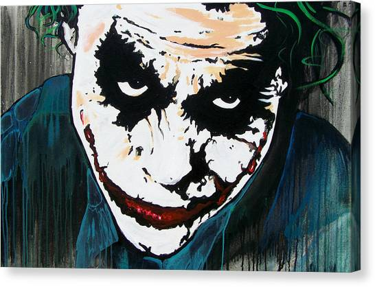 Heath Ledger Canvas Print - Why So Serious by Jack Irons